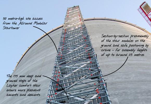 stair tower стълбище от скеле