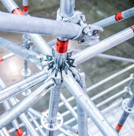 Система модулно скеле Allround – изграждане на кръгово скеле