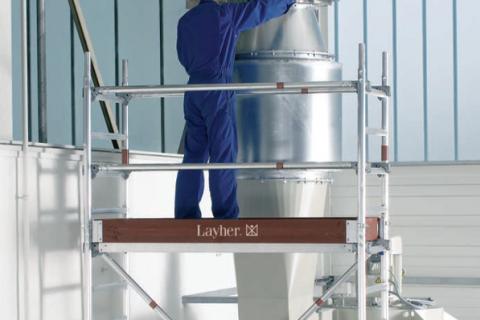 Мобилни скелета Layher – Правилното решение за всяка задача. Алуминиева кула UNI LIGHT